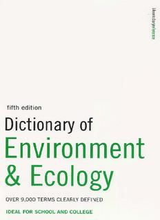 Collin S.M.-Dictionary of Environment & Ecology.pdf - EcoRussia.info