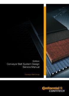 Conveyor Belts. System design calculation. Service Manual Continental - Contitech (Conveyor Belt Group)