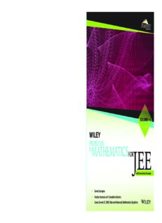 Wiley s Problems in Mathematics for IIT JEE Main and Advanced Vol I 1 Maestro Series with Summarized Concepts