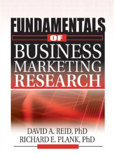 Fundamentals of Business Marketing Research (The Foundation Series in Business Marketing) (The Foundation Series in Business Marketing)