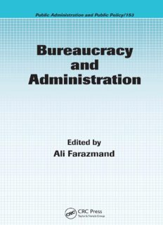 Bureaucracy and Administration (Public Administration and Public Policy)