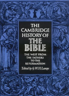 The Cambridge History of the Bible, Volume 2