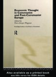 Economic Thought in Communist and Post-Communist Europe (Routledge Studies in the History