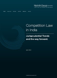 Competition Law in India - Nishith Desai Associates