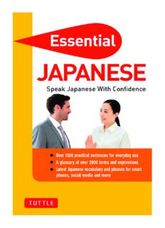 Essential Japanese : Speak Japanese With Confidence (Japanese Phrasebook & Dictionary)