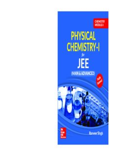 Chemistry Module I Physical Chemistry I for IIT JEE main and advanced Ranveer Singh McGraw Hill Education