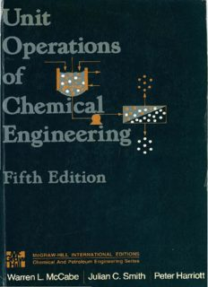 Unit Operations In Chemical Engineering, 5th Edition