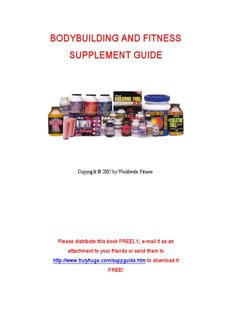 BODYBUILDING AND FITNESS SUPPLEMENT GUIDE