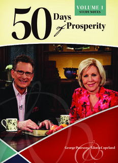 Pastor George Pearsons Notes-50 Days of Prosperity