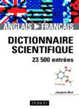 Dictionnaire scientifique anglais/francais