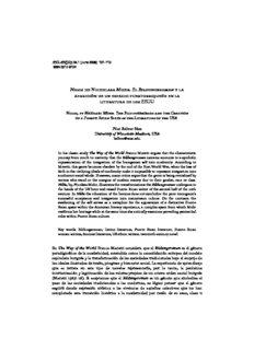 Nilda de Nicholasa Mohr. El Bildungsroman y la aparición de un espacio puertorriqueño en la ...