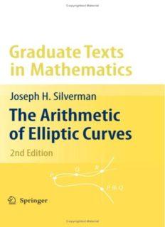 Silverman, The Arithmetic of Elliptic Curves