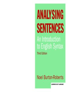 Analysing sentences : an introduction to English syntax