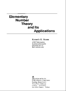 Rosen - Elementary number theory and its applications