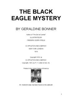Bonner, Geraldine, THE BLACK EAGLE MYSTERY
