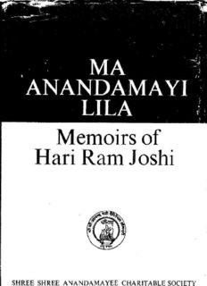 Ma Anandamayi Lila, Memoirs of Hari Ram Joshi
