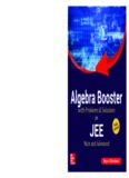 Algebra Booster for JEE Main and Advanced Rejaul Makshud McGraw Hill