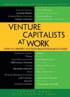 Venture Capitalists at Work: How VCs Identify and Build Billion Dollar Successes