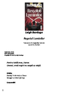 Leigh Bardugo-Regatul luminilor