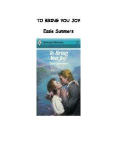 To Bring You Joy (Harlequin Romance)