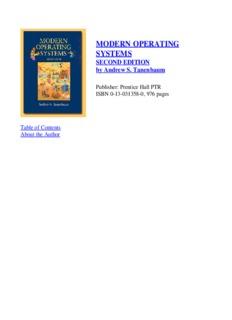 modern operating systems modern operating systems