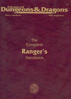 The Complete Ranger's Handbook (Advanced Dungeons & Dragons, 2nd Edition, Player's Handbook Rules Supplement PHBR11)