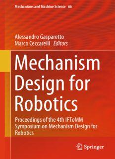 Mechanism Design for Robotics: Proceedings of the 4th IFToMM Symposium on Mechanism Design for Robotics