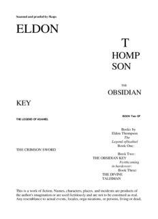 Eldon Thompson - The Legend of Asahiel 02 - The Obsidian Key