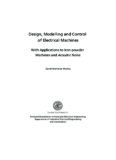 Design, Modelling and Control of Electrical Machines - IEA - Lund