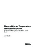 Thermal Cycler Temperature Verification System User Guide