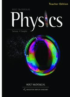 Holt McDougal Physics: Teacher's Edition 2012
