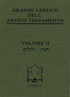 Grande Lessico dell'Antico Testamento (gillulim-hames)