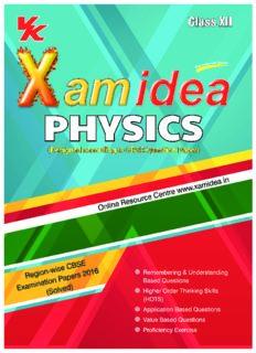 XAM IDEA Physics Class 12th Board Question Bank