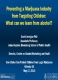 What can we learn from alcohol? David Jernigan, Ph - SAM