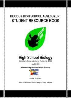 BIOLOGY HIGH SCHOOL ASSESSMENT STUDENT RESOURCE BOOK High School Biology