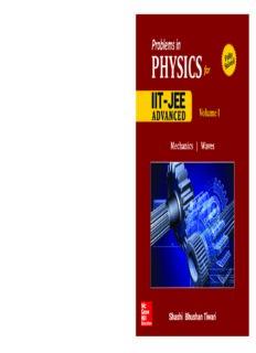 Problems in Physics I for IIT JEE Vol 1 IITJEE main advanced standard 12 XII Shashi Bhusan Tiwari Mc Graw Hill