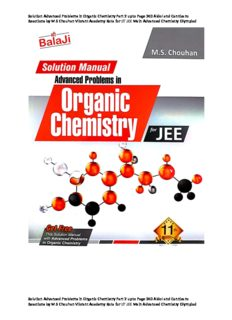 Solution Advanced Problems in Organic Chemistry Part 2 upto Page 240 Aldol and Cannizaro Reactions by M S Chouhan Vibrant Academy Kota for IIT JEE Main Advanced Chemistry Olympiad Balaji