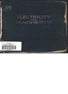 Electricity and magnetism: an introduction to the theory of electric and magnetic fields