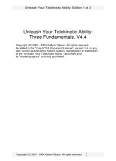 Kaltem Gibson - Telekinesis - Unleash Your Telekinetic Ability.pdf