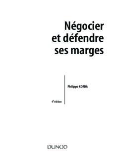 Négocier et défendre ses marges - Vente, achat, négociations d'affaires
