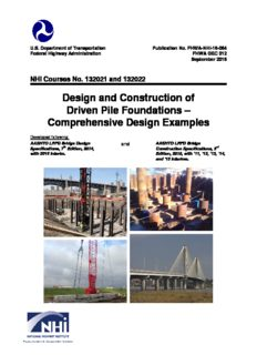 Design and Construction of Driven Pile Foundations Comprehensive Design Example