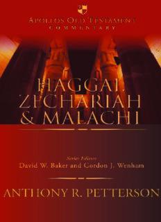 Haggai-- Malachi  (Apollos Old Testament Commentary Series)