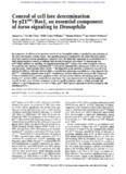 Control of cell fate determination p21ras/Rasl, an essential component torso signaling in Drosophila