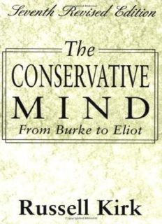 The conservative mind : from Burke to Eliot