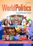 World Politics.  Trend and Transformation