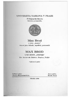 Max Brod MAX BROD