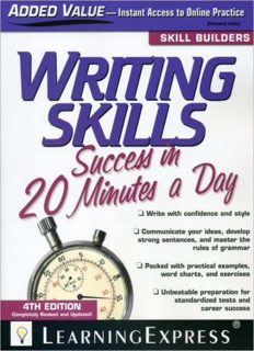 Writing Skills Success in 20 Minutes a Day, 4th Edition (Skill Builders)