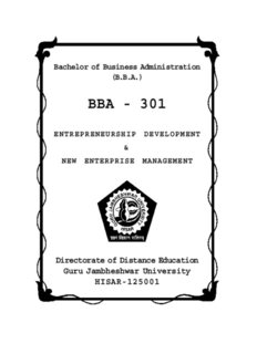 Entrepreneurship Development - Directorate of Distance Education