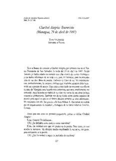 Claribel Alegría: Entrevista