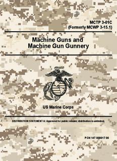 Machine Guns and Machine Gun Gunnery